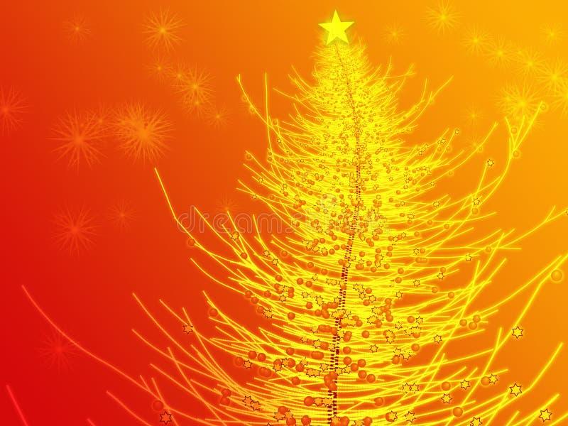 boże narodzenie ilustracyjny sparkly drzewo ilustracji
