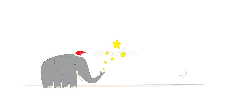 boże narodzenie Jest pana słonia ilustracja wektor