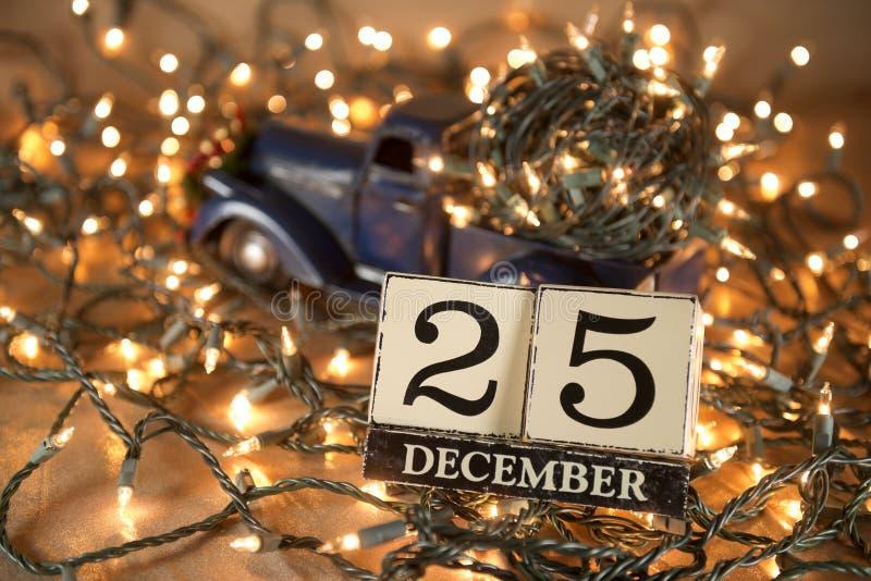 Boże Narodzenie kalendarz fotografia stock