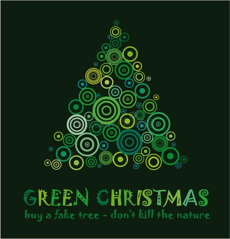 boże narodzenie karciana zieleń ilustracji