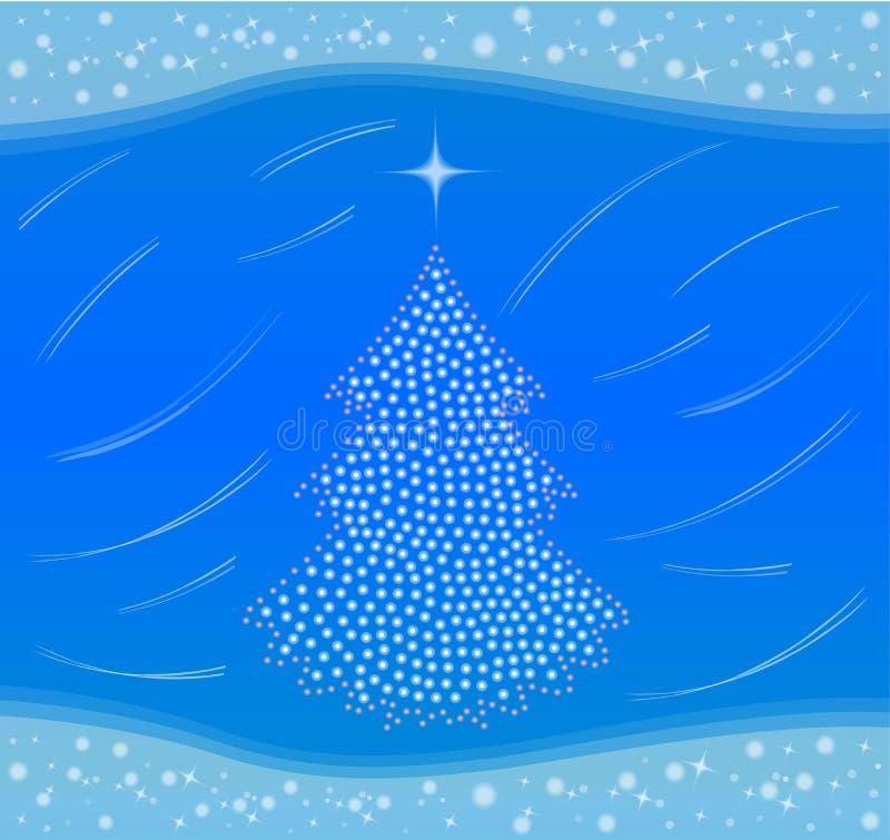 boże narodzenie karciana zima royalty ilustracja