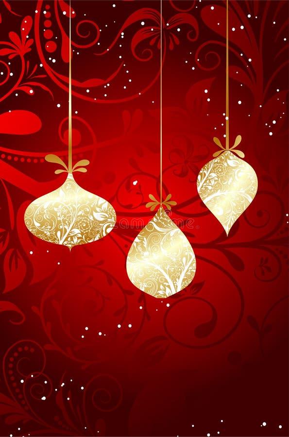 boże narodzenie karciany ornament ilustracja wektor