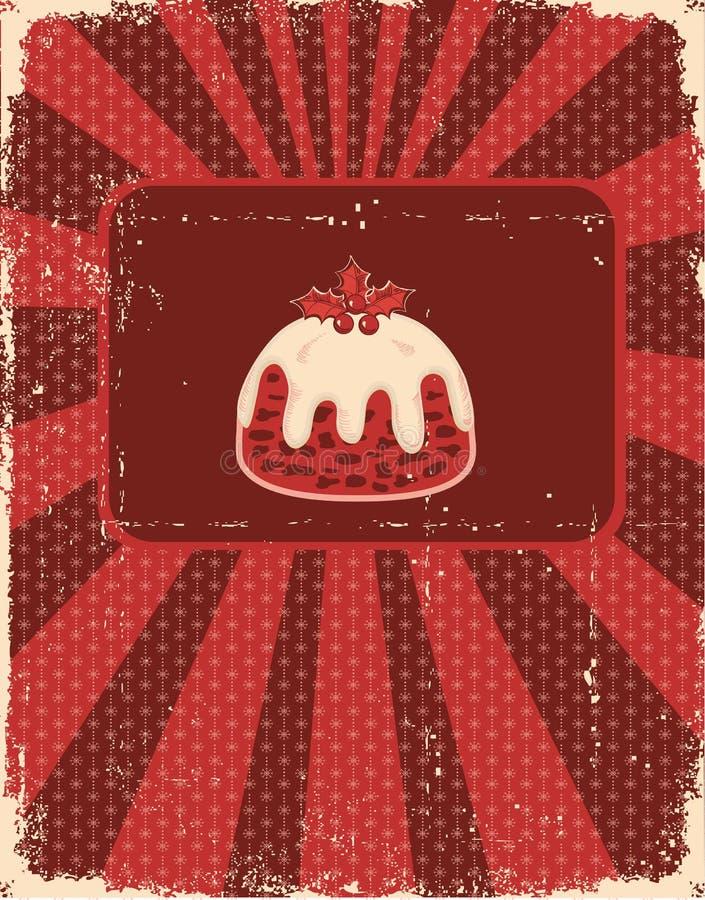 boże narodzenie karciany rocznik royalty ilustracja