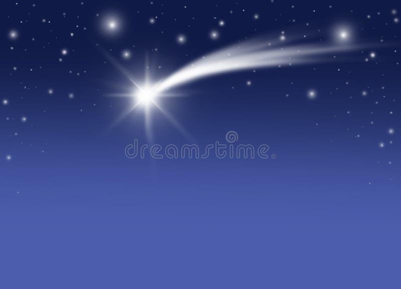 boże narodzenie kometa royalty ilustracja