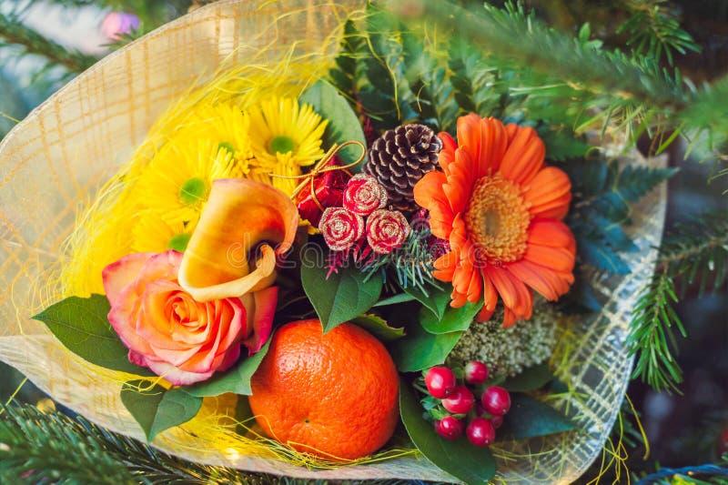 Boże Narodzenie kwiatu bukiet obraz stock
