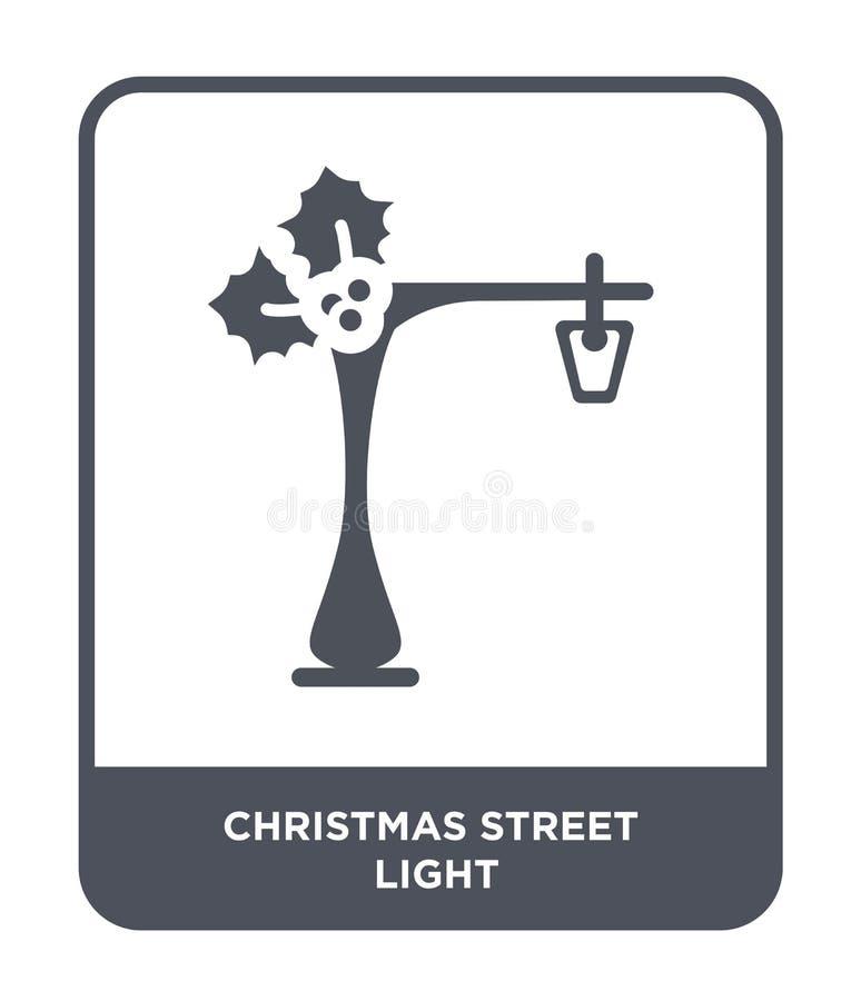 boże narodzenie latarni ulicznej ikona w modnym projekta stylu boże narodzenie latarni ulicznej ikona odizolowywająca na białym t royalty ilustracja