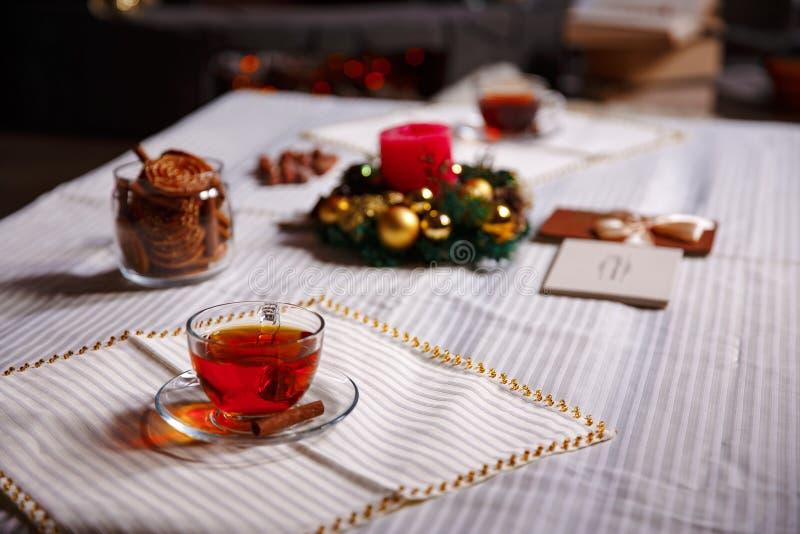 Boże Narodzenie materiał strzał robić z shalow głębią pole selekcyjny zdjęcia stock