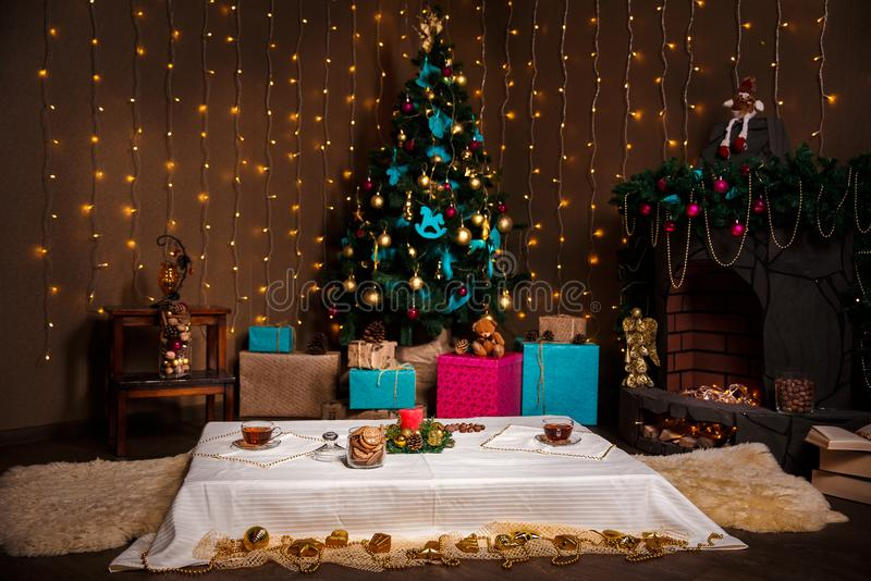 Boże Narodzenie materiał strzał robić z shalow głębią pole selekcyjny zdjęcie stock