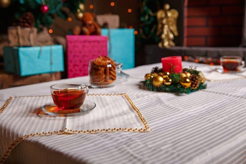 Boże Narodzenie materiał strzał robić z shalow głębią pole selekcyjny obrazy stock