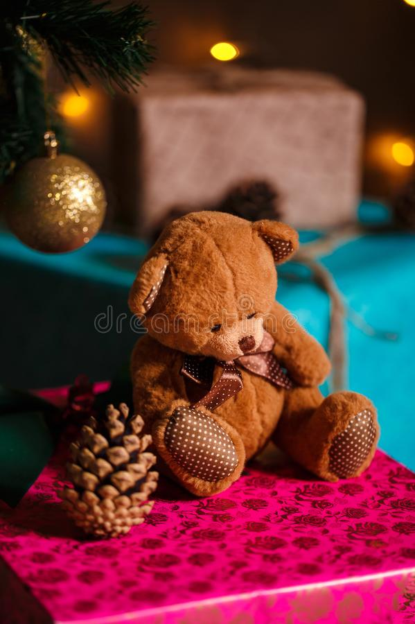 Boże Narodzenie materiał strzał robić z shalow głębią pole selekcyjny obraz stock