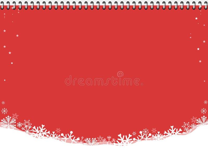 Boże Narodzenie na czerwonym tle Koncert zimowy ilustracja wektor