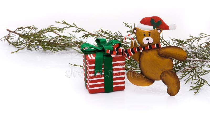Boże Narodzenie Niedźwiedź zdjęcie royalty free