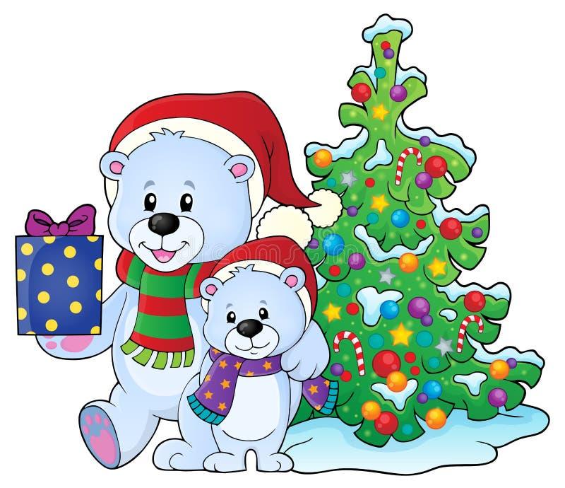 Boże Narodzenie niedźwiedzi tematu wizerunek 6 ilustracji