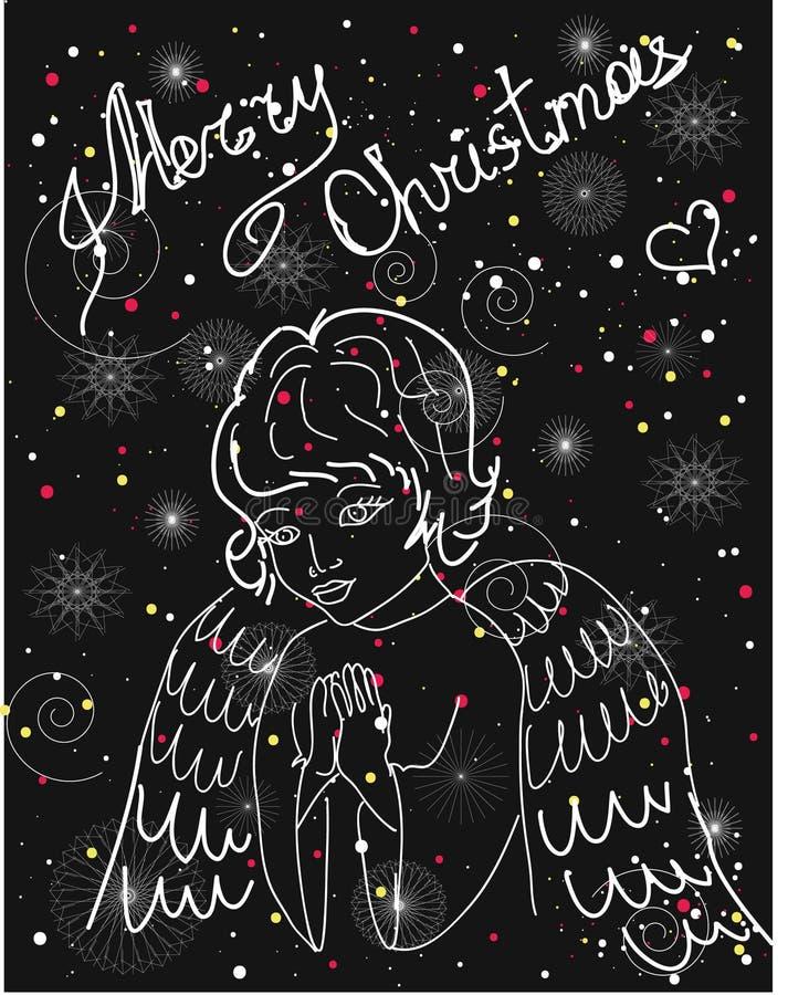 boże narodzenie nowy rok szczęśliwy wesoło ilustracja wektor