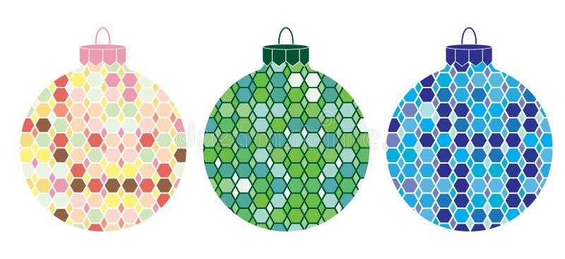 Boże Narodzenie obrazkowi Ornamenty 3 ilustracji