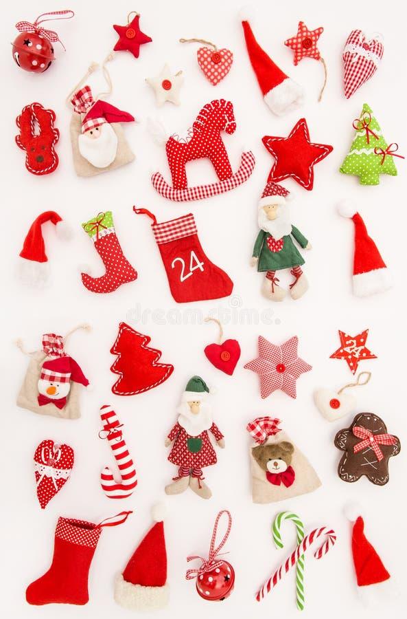 Boże Narodzenie ornamentów dekoracj tła zimy biali wakacje zdjęcia stock