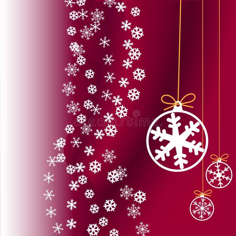 boże narodzenie ornamentów opad śniegu ilustracji