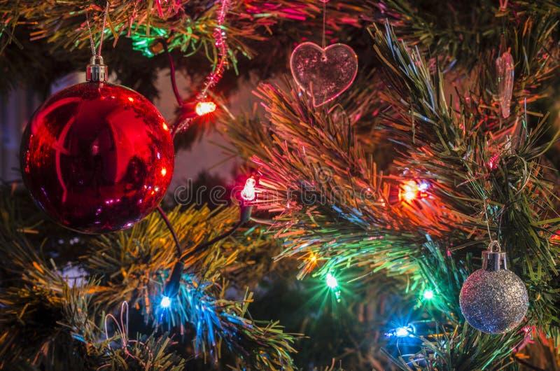 Boże Narodzenie ornamenty na choince zdjęcie stock