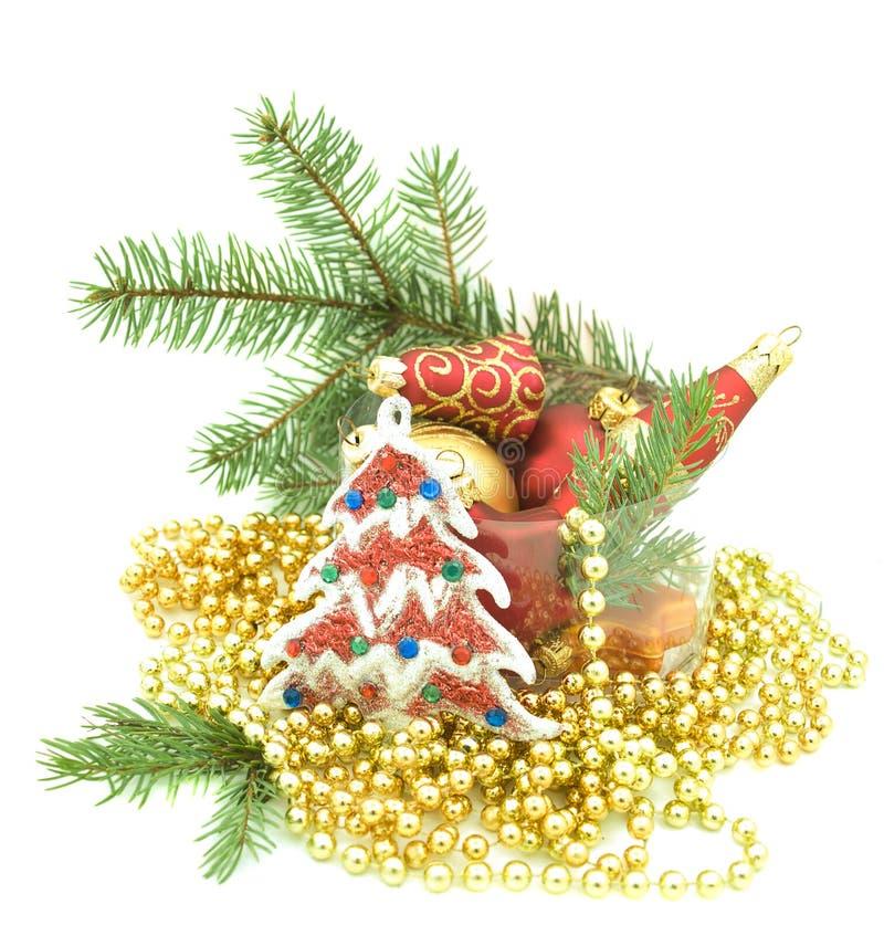 boże narodzenie ornamenty ustawiają fotografia stock