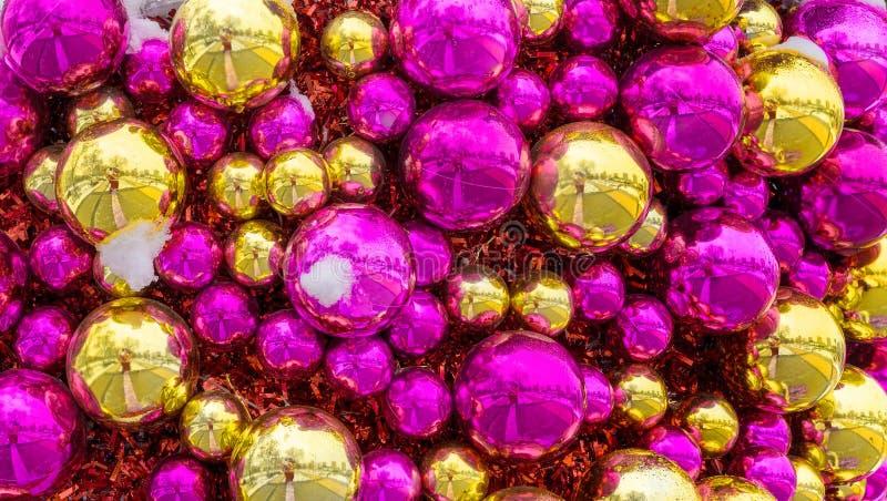Boże Narodzenie ornamenty w górę zdjęcie stock
