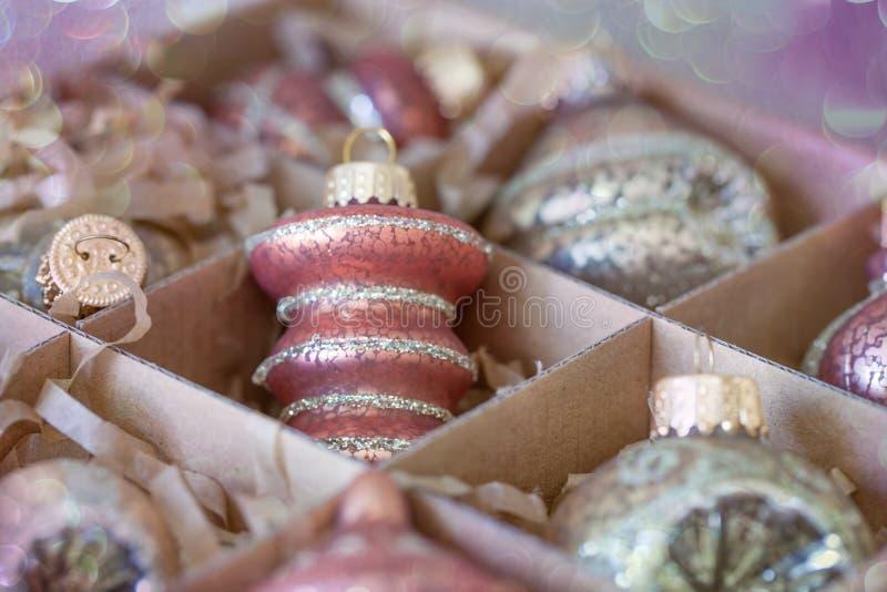 Boże Narodzenie otucha i ornamenty zdjęcia stock