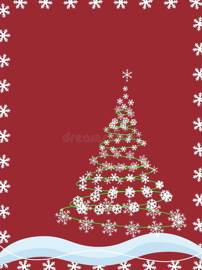 boże narodzenie płatki śniegu tree ilustracja wektor