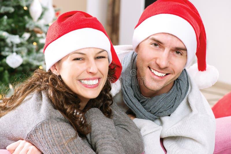 Boże Narodzenie Para zdjęcia stock