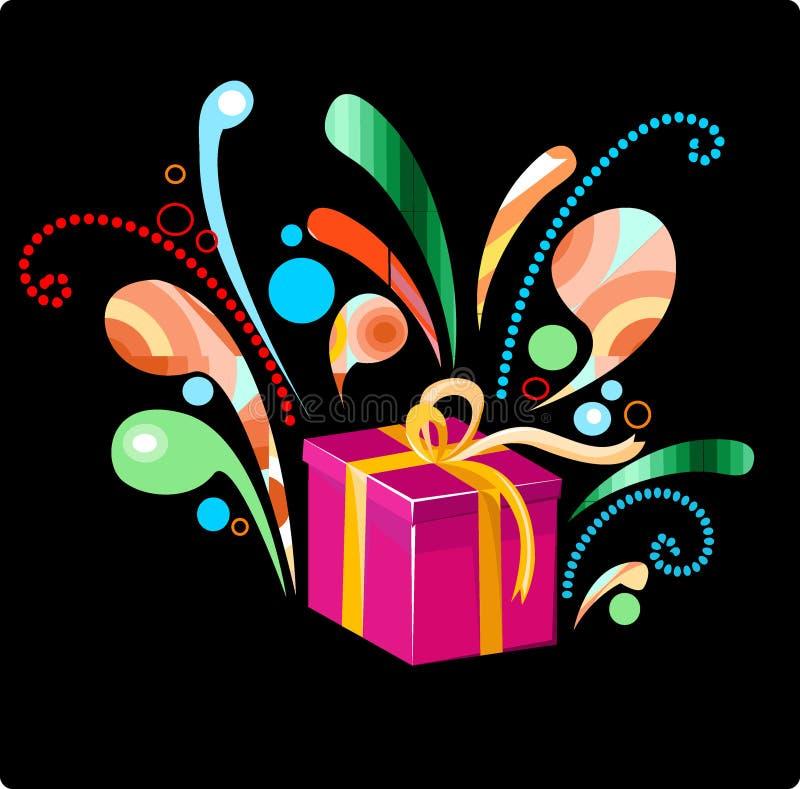 boże narodzenie piękny urodzinowy prezent ilustracja wektor