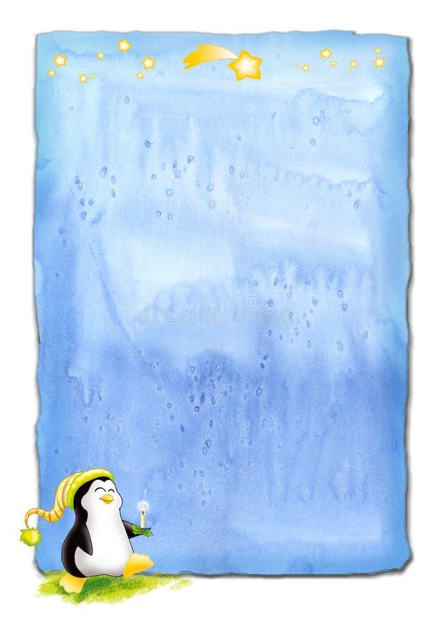 boże narodzenie pingwin pergaminu royalty ilustracja