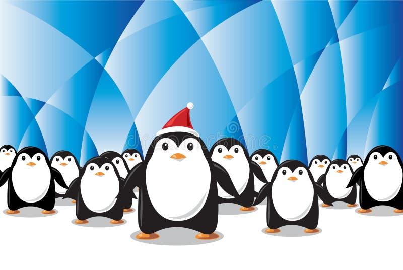 boże narodzenie pingwiny ilustracja wektor