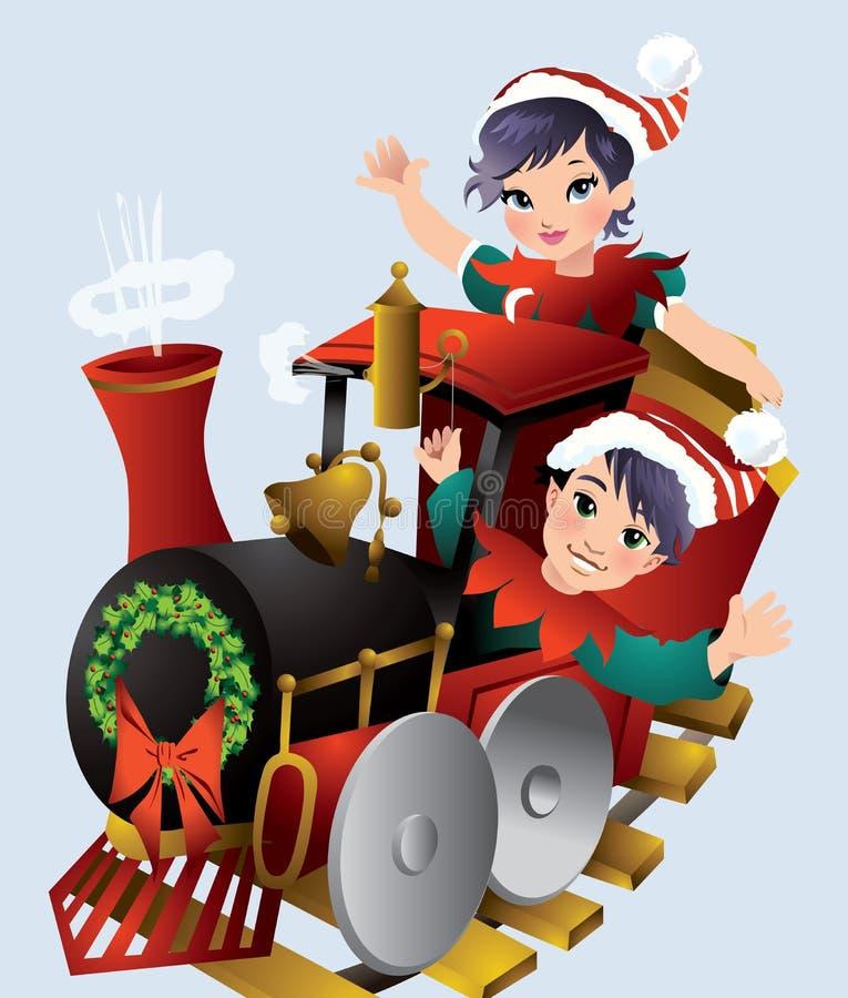 Boże Narodzenie pociąg zdjęcia royalty free