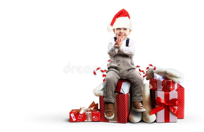 boże narodzenie prezentów white izolacji fotografia royalty free