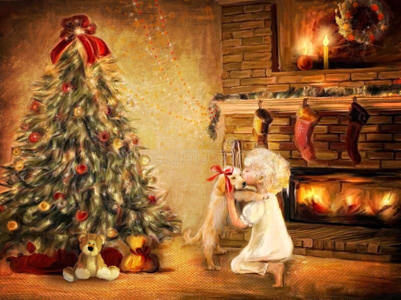 boże narodzenie prezent ilustracji