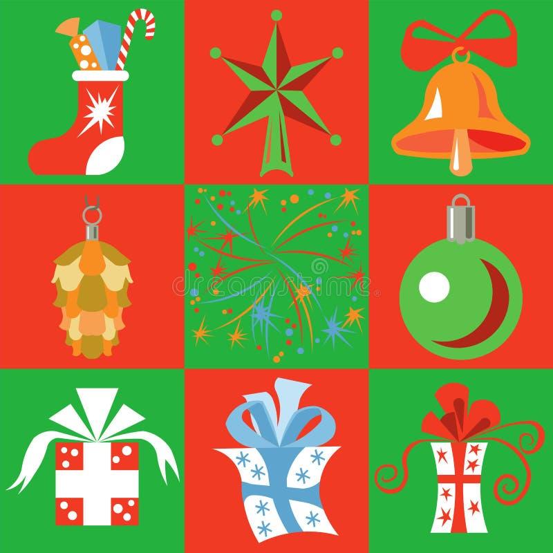 Boże Narodzenie prezenty i royalty ilustracja