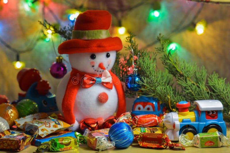 Boże Narodzenie prezenty & zabawki fotografia royalty free
