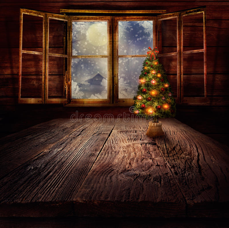 Boże Narodzenie projekt - Choinka fotografia royalty free