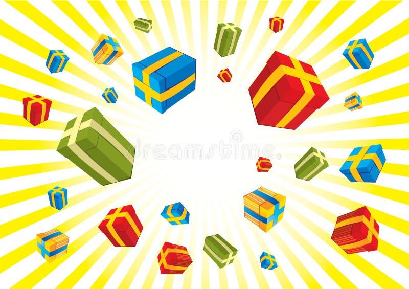 boże narodzenie pudełkowaci prezenty ilustracja wektor