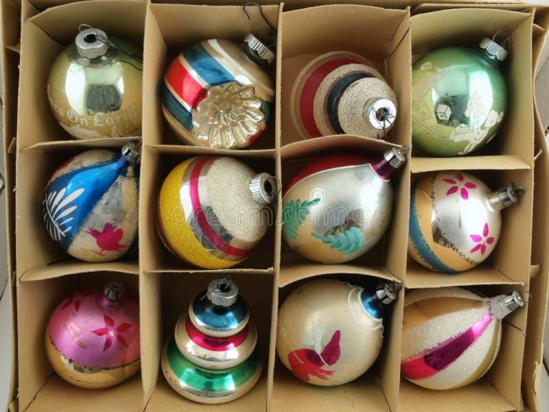 boże narodzenie pudełkowaty ornament zdjęcie royalty free