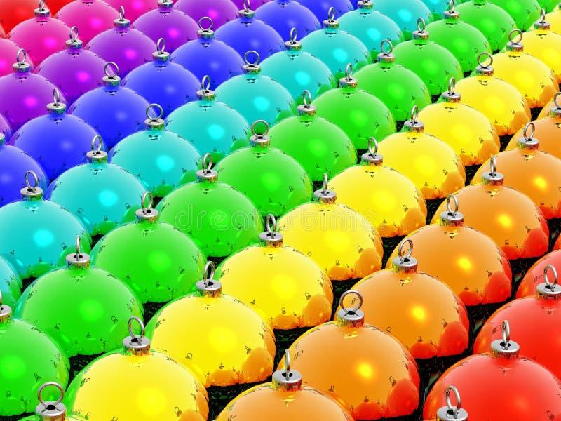 boże narodzenie rainbow ilustracja wektor