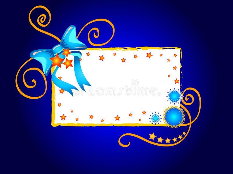 boże narodzenie ramy gwiazdy royalty ilustracja