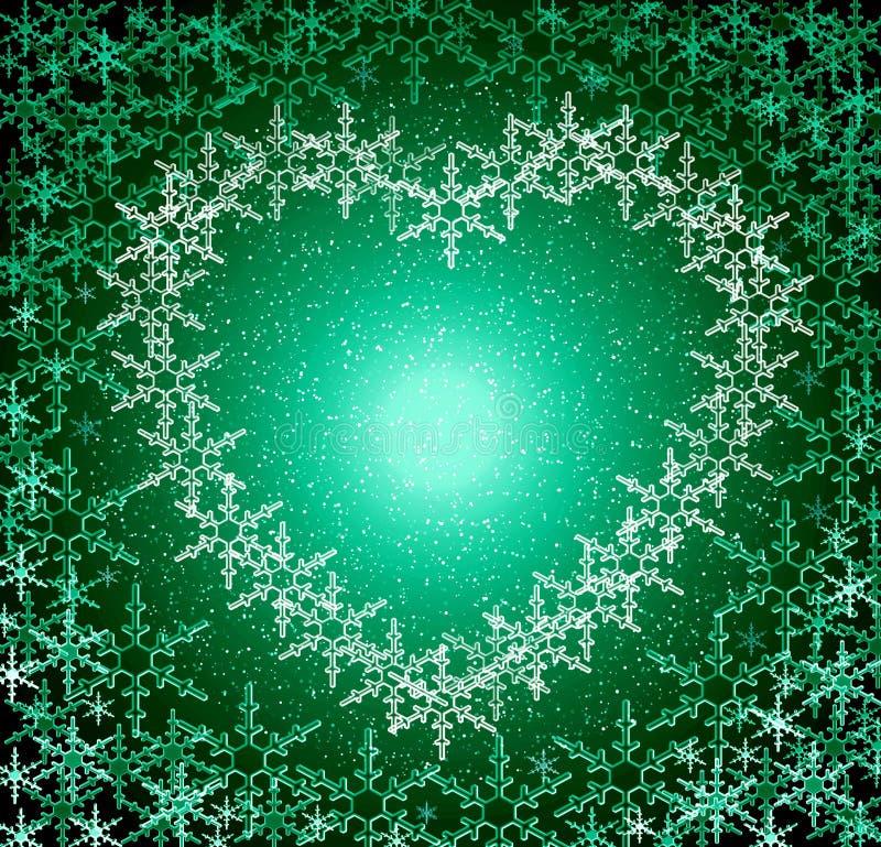 boże narodzenie ramy zielone miłości ilustracji