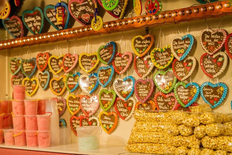 Boże Narodzenie rynek w barmanach, Niemcy zdjęcie royalty free