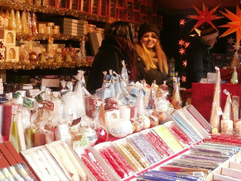 Boże Narodzenie rynek w Drezdeńskim na Altmarkt kwadracie, Niemcy, 2013 obraz royalty free