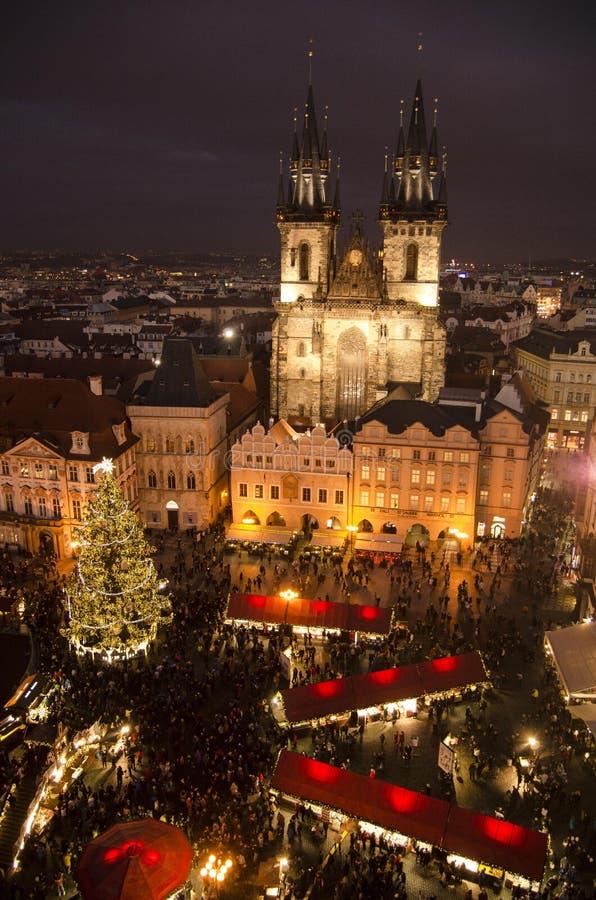 Boże Narodzenie rynek w Starym rynku w Praga zdjęcia royalty free