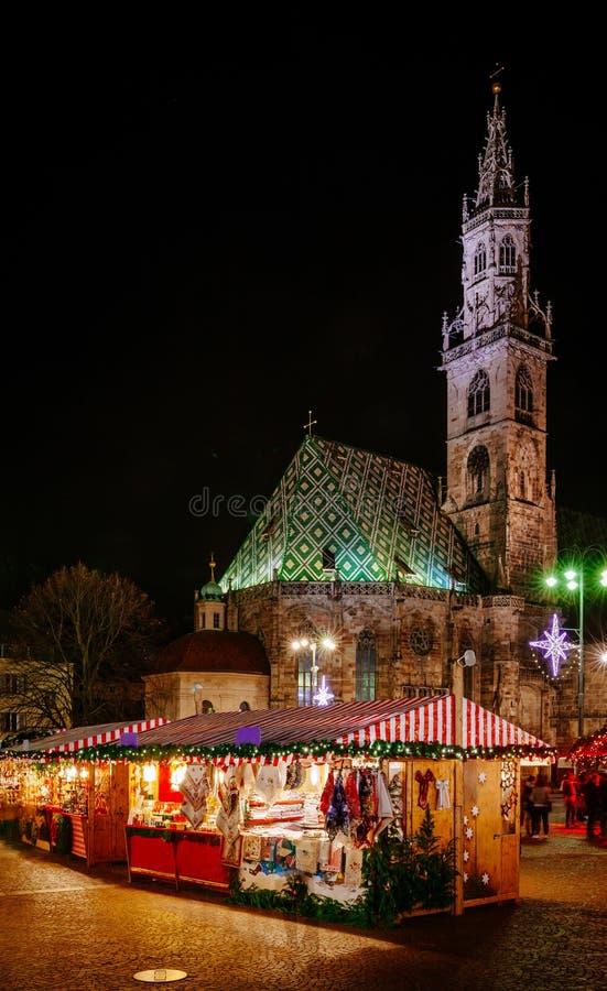 Boże Narodzenie rynek w Vipiteno, Bolzano, Trentino Altowy Adige, Włochy zdjęcia royalty free