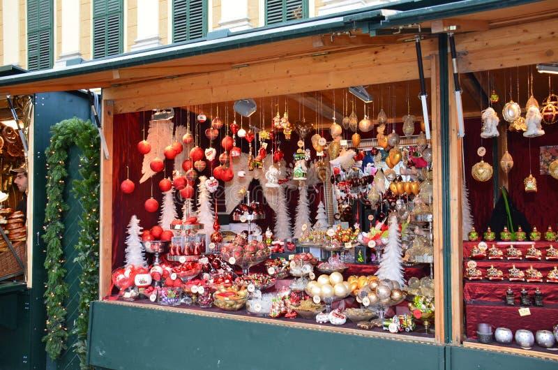 Boże Narodzenie rynku kram, Wiedeń zdjęcie royalty free