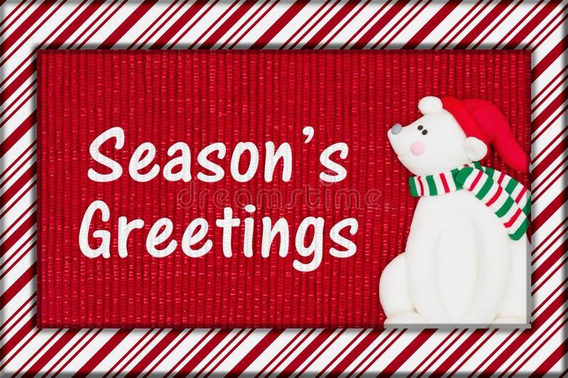 Boże Narodzenie sezonu ` s powitanie zdjęcie stock