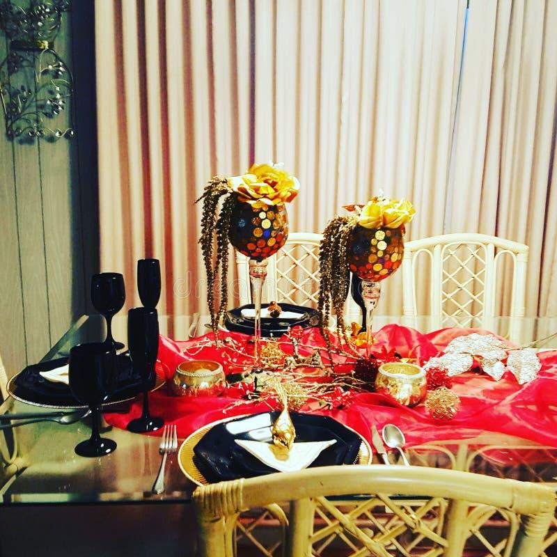 Boże Narodzenie stołu projekt obraz royalty free