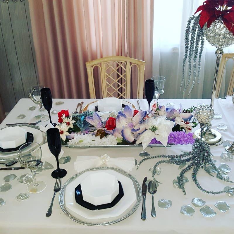 Boże Narodzenie stołu projekt zdjęcia stock