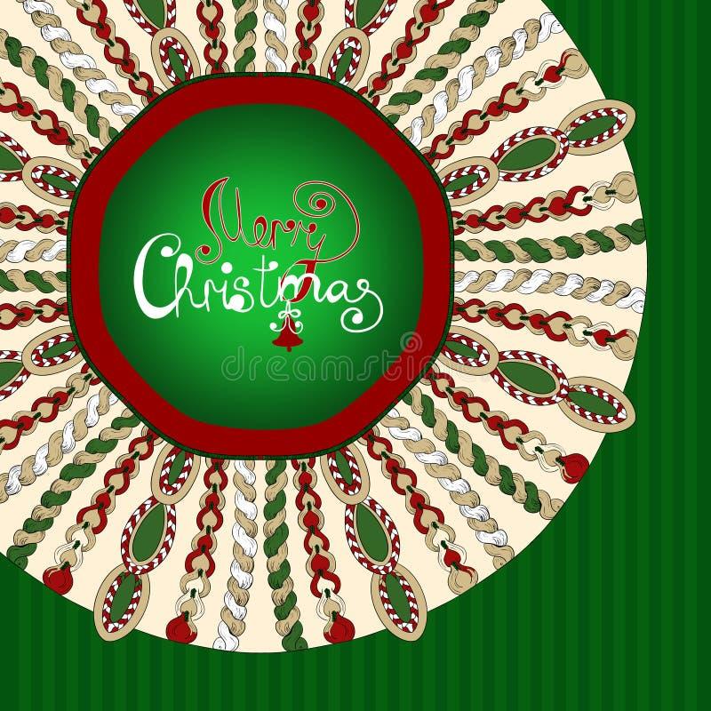 Boże Narodzenie stylizujący trykotowy tło royalty ilustracja